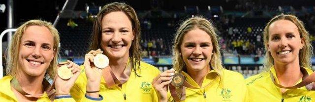 Австралийки установили новый мировой рекорд в эстафете 4x100м вольным стилем