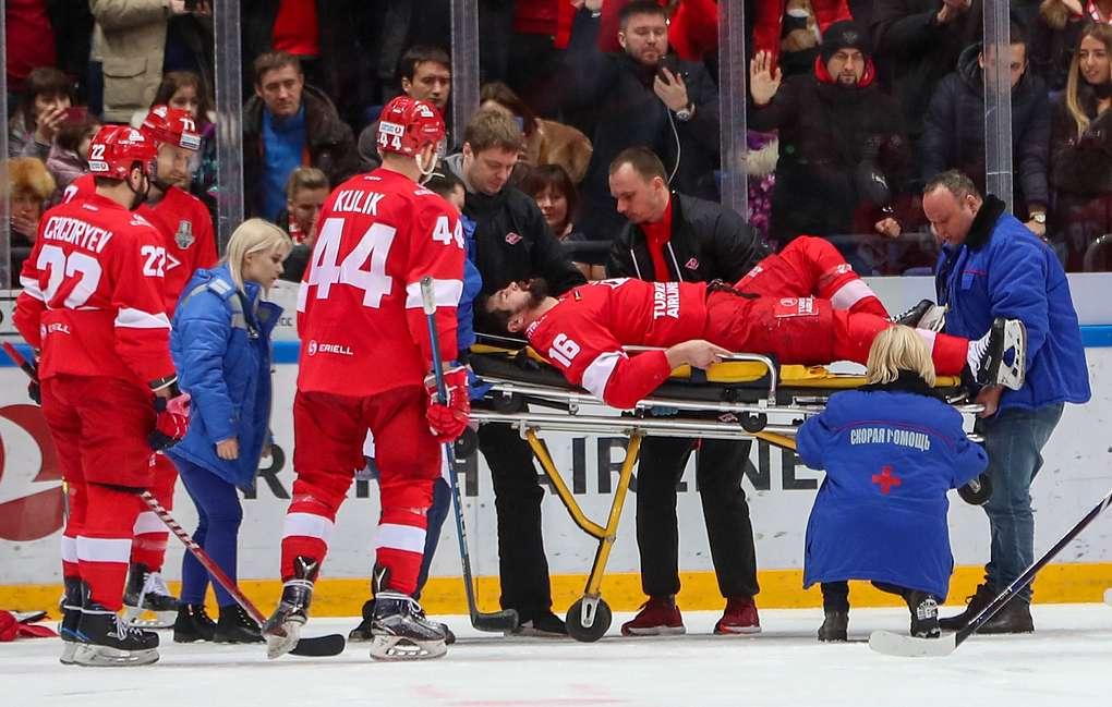 Гудачек: несчастный случай в игровом моменте  Даугавиньш ударился о борт