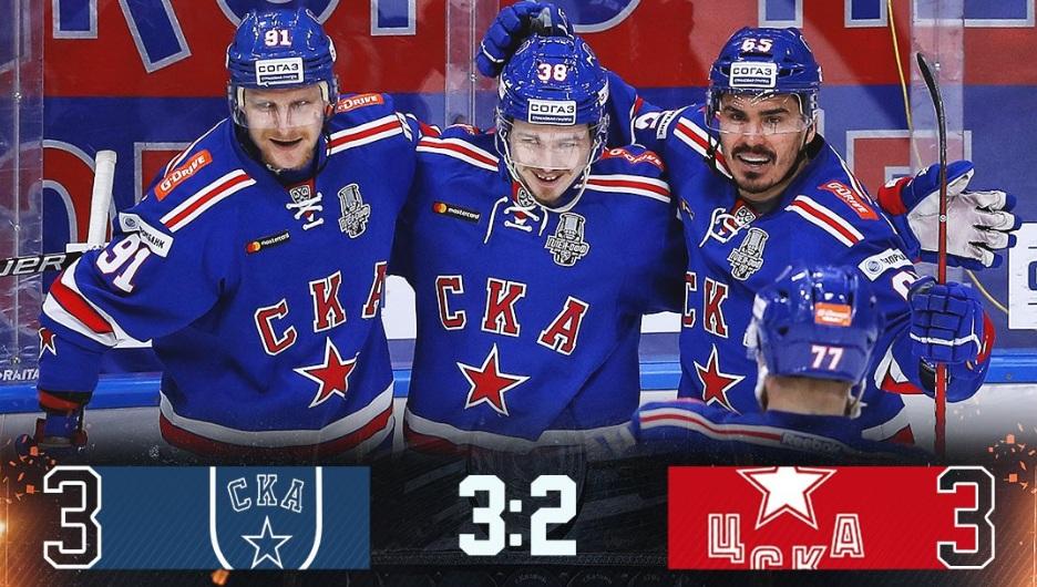 СКА выиграл у ЦСКА и добился права на седьмой матч